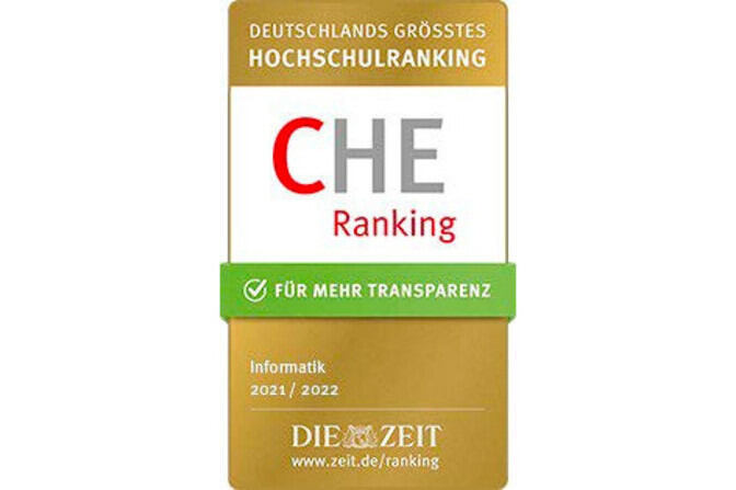 Seal of the CHE Ranking 2021